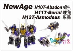 Newage NA H10T H11T H12T Insecticons Set of 3 Transparent ver Action figure