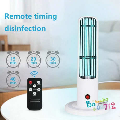 20W UV Germicidal Lamp Multi-function Durable Ultraviolet Sterilization Lamp Disinfection Light with 3 Timer Settings for Bedrooms Kitchens Offices In
