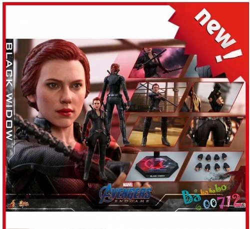 1/6 Scale Hottoys Avengers: Endgame Black Widow Action Figure Outfits HT MMS533